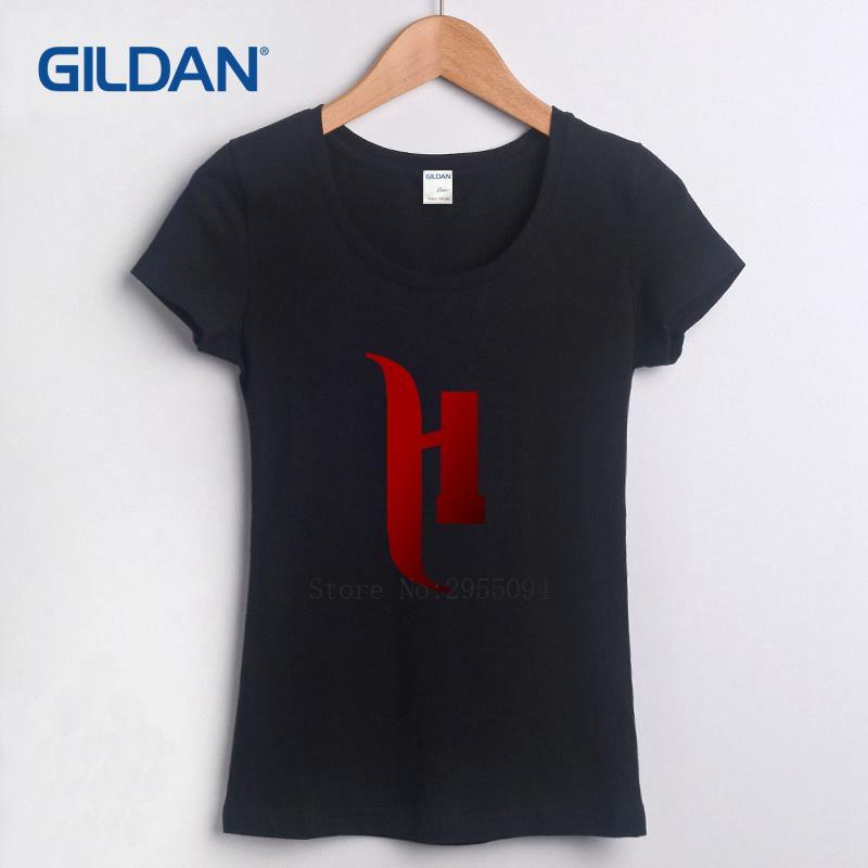 Compre Camiseta Feminina 2018 H Meninas T Camisa Online Verão Mulheres T  Shirt Colorida De Dhshop02 32cd36e3a28ba