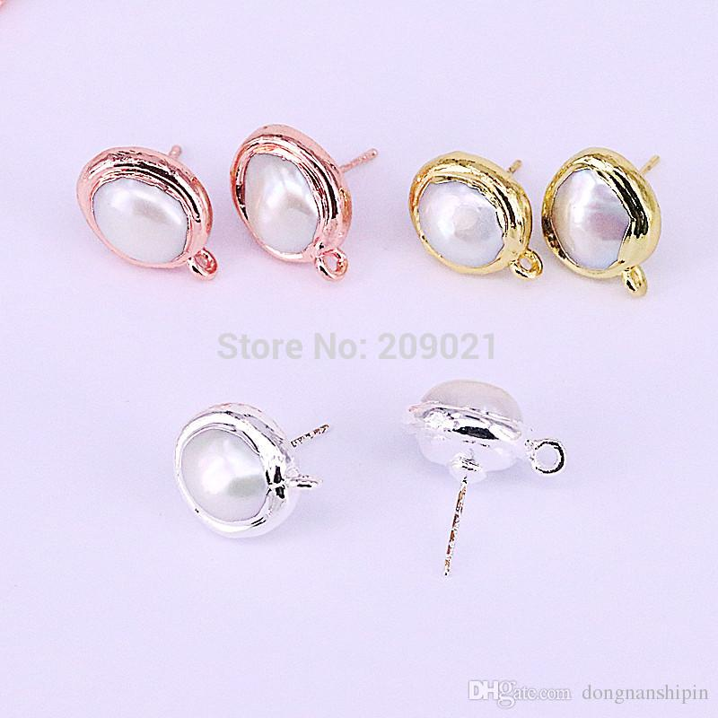 Excellent 2019 Round Shape Fresh Water Pearl Earrings Studs Womans Earrings Wiring Cloud Hisonuggs Outletorg