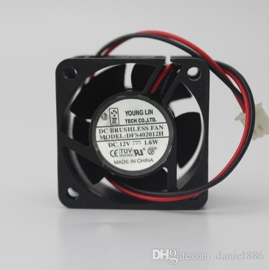 Oryginalny 4cm 4020 12 V 1.6W DFS402012H YONGLIN 2 LINE Wentylator