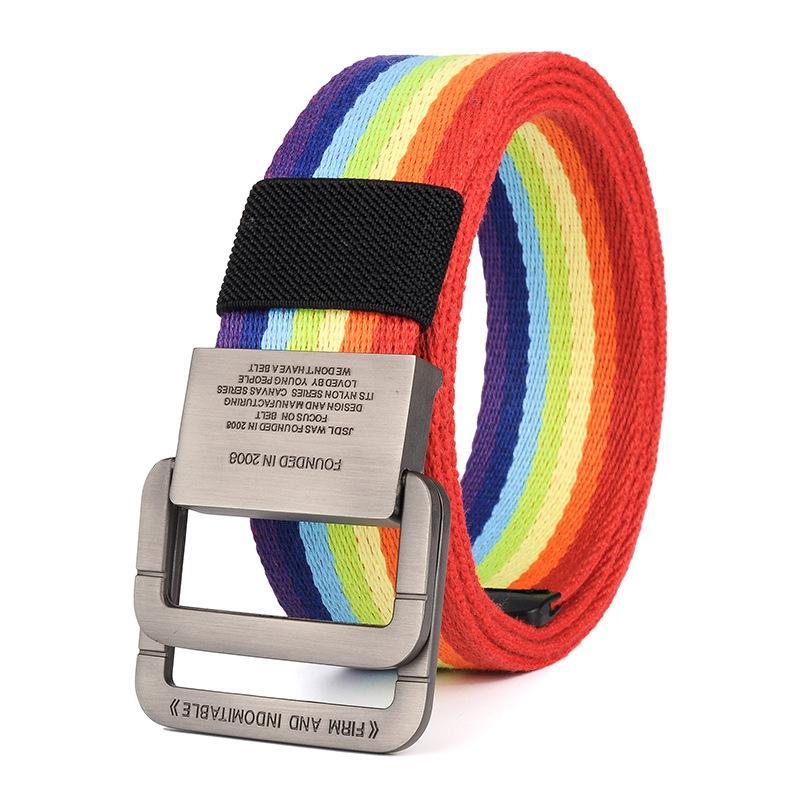 Compre Cinturón De Lona De Nylon Hombres Cinturones Tácticos Del Hombre Al  Aire Libre Deporte Doble Hebilla Pantalones De Vaquero De Lona De Nylon  Cinturón ... a483883cbcb0