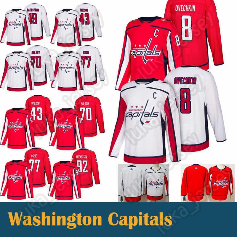 buy popular 5b53b 1afb4 8 Alex Ovechkin Washington Capitals 77 T.J. Oshie 92 Evgeny jersey  Kuznetsov 43 Tom 19 Nicklas 70 Braden Holtby Hockey Jerseys