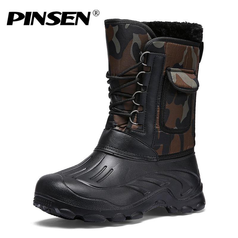 7ec3f5aa6 2018 Winter Boots Men shoes Army Boots Men s Tactical Desert Combat High  Top Ankle Snow Mens Outdoor Work Shoes Men