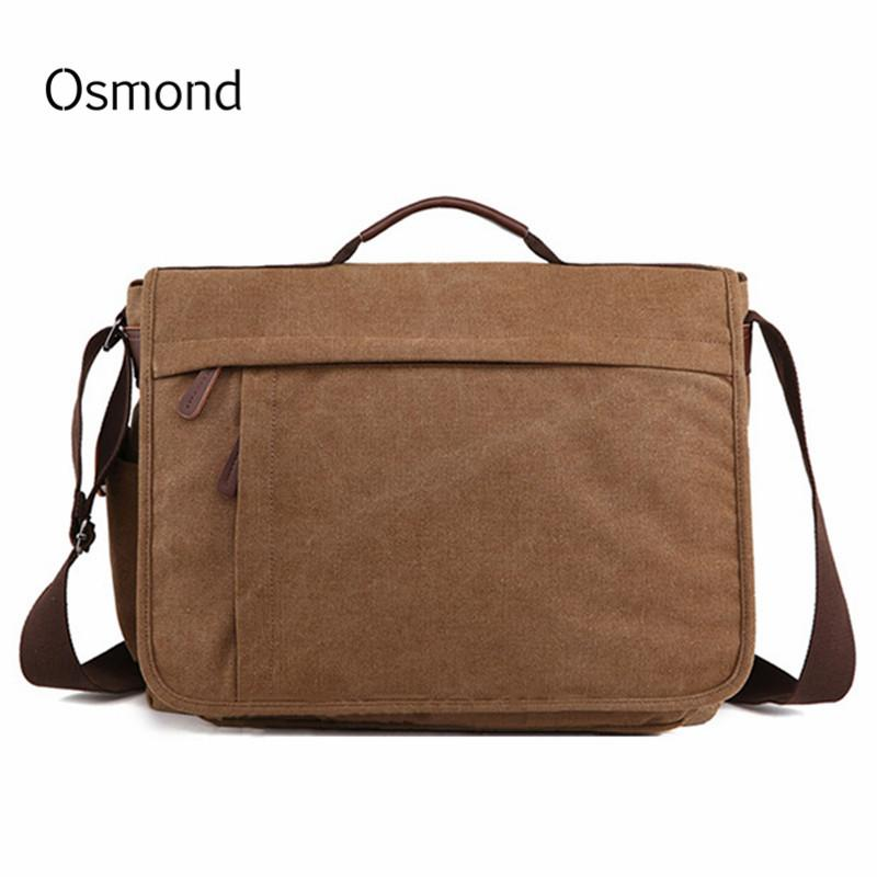 2018 Brand Large Capacity Canvas Male Briefcase Business Laptop Bag Vintage  Shoulder Crossbody Bag For Men Messenger Bags Bolsa Laptop Bags Satchel  From ... c4fa365d7175d