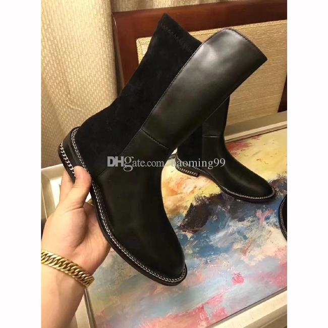 dc3bb348b50d Luxury Branded Full Leather Women Boots Designer Style High Quality Fashion  Female Short Boots Ladies Shoes Suede Leather Flat Boots Shoes Women s Boots  ...