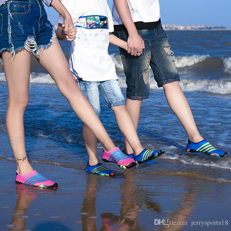 d0e9634f44283f 2019 Children Aqua Shoes Summer Shoes Men Breathable Beach Slippers  Upstream Shoes Adult Woman Swimming Sandals Diving Socks Tenis Masculino  From ...