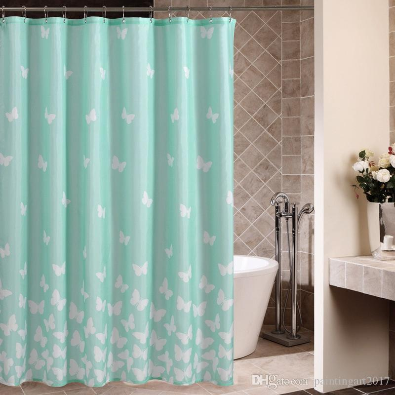 2018 Unique Shower Curtain Blue Flying Birds Open Wings Silhouettes Clear Summer Sky Hovering Feathered Animals Light Blue White From Paintingart2017 ... & 2018 Unique Shower Curtain Blue Flying Birds Open Wings Silhouettes ...