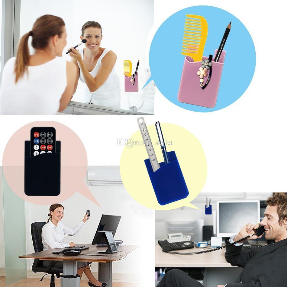 Téléphone Autocollant De Poche 3M Adhésif Autocollant Fente Pour Carte Carte de Crédit Portefeuille Poche Pochette Universel pour Smartphone avec Sac D'OPP