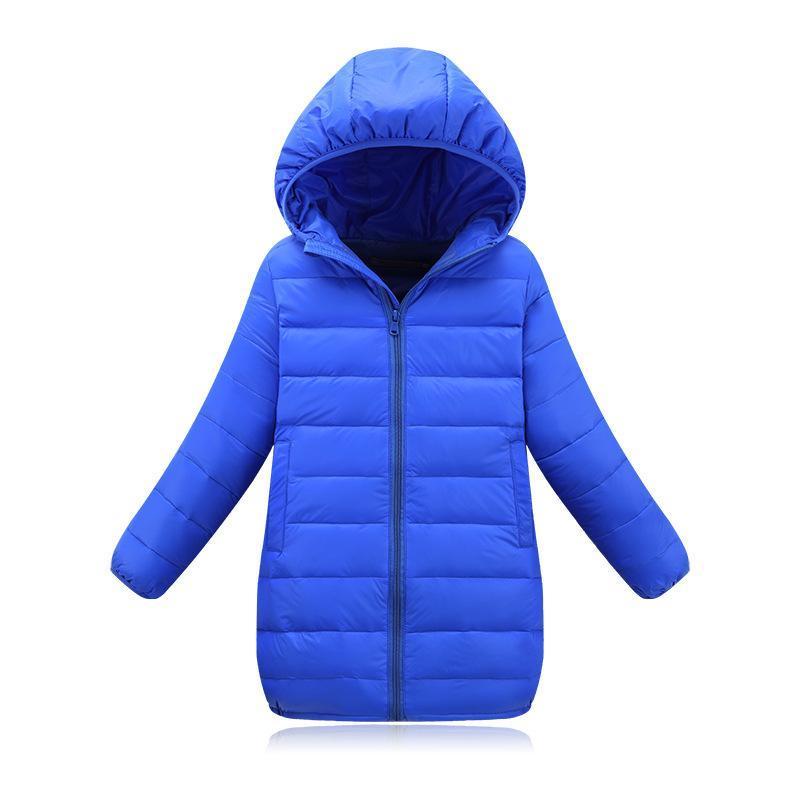New Brand 2017 Fashion Children's Down Jackets Coats Solid Cotton-padded Girls Warm Winter Coat Jacket Children Outerwear 4-13Y