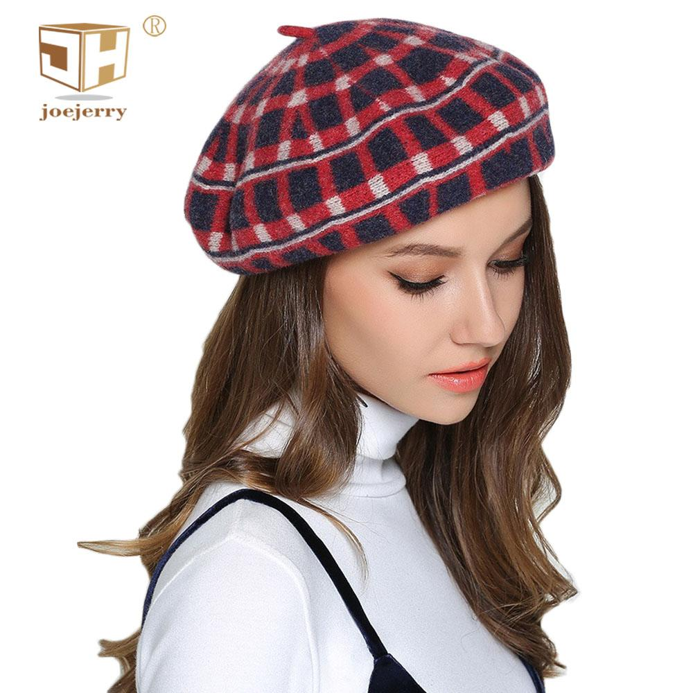 6f88614d 2019 JOEJERRY Plaid French Beret Female Artist Hat Flat Cap Wool Beret  Women Lady Winter Warm From Baozii, $25.66 | DHgate.Com