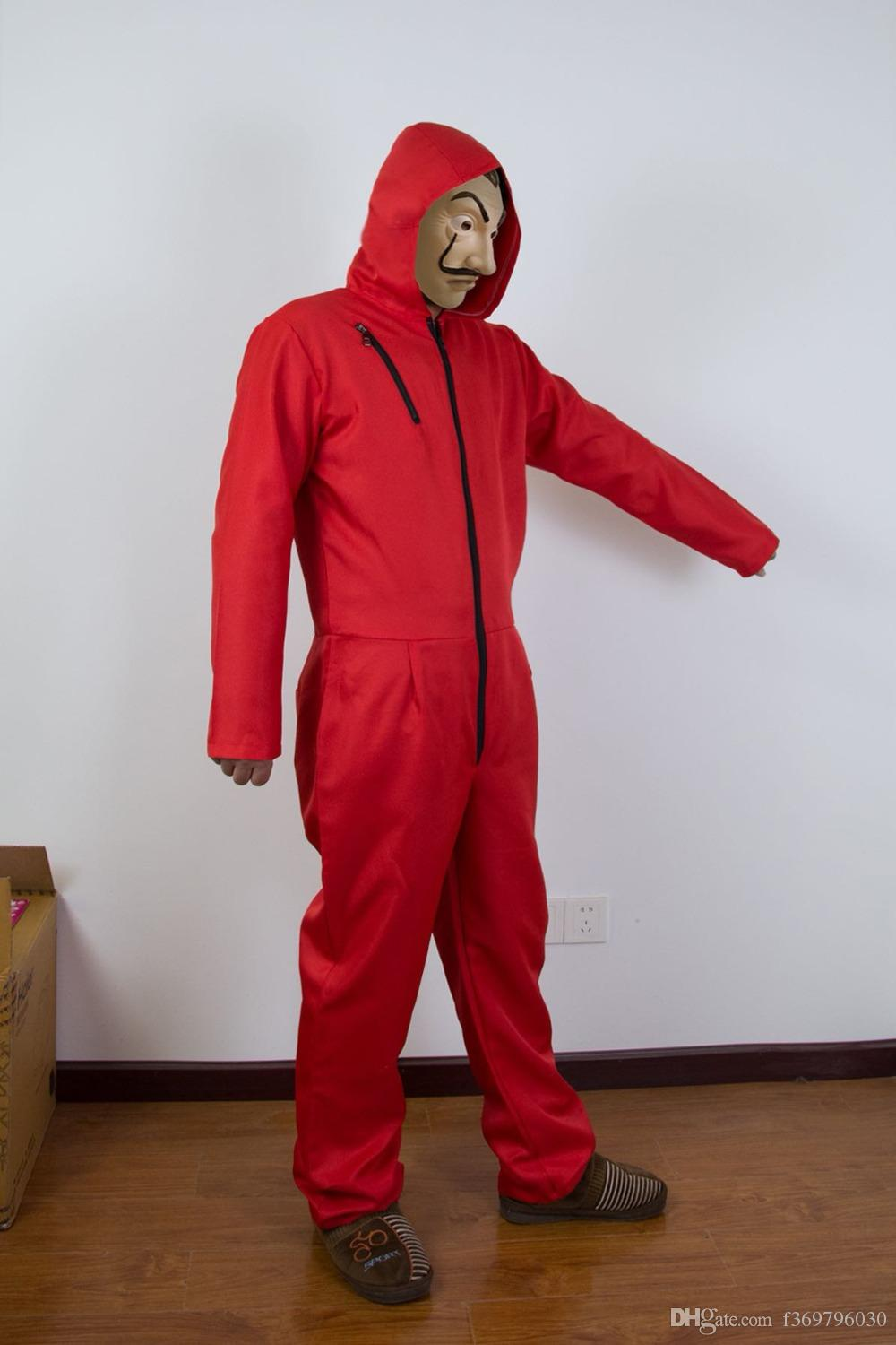 money Heist hot movie Salvador delivery Dali mask The Paper House Salvador Dali cosplay costume red monkeys Child adult uniform