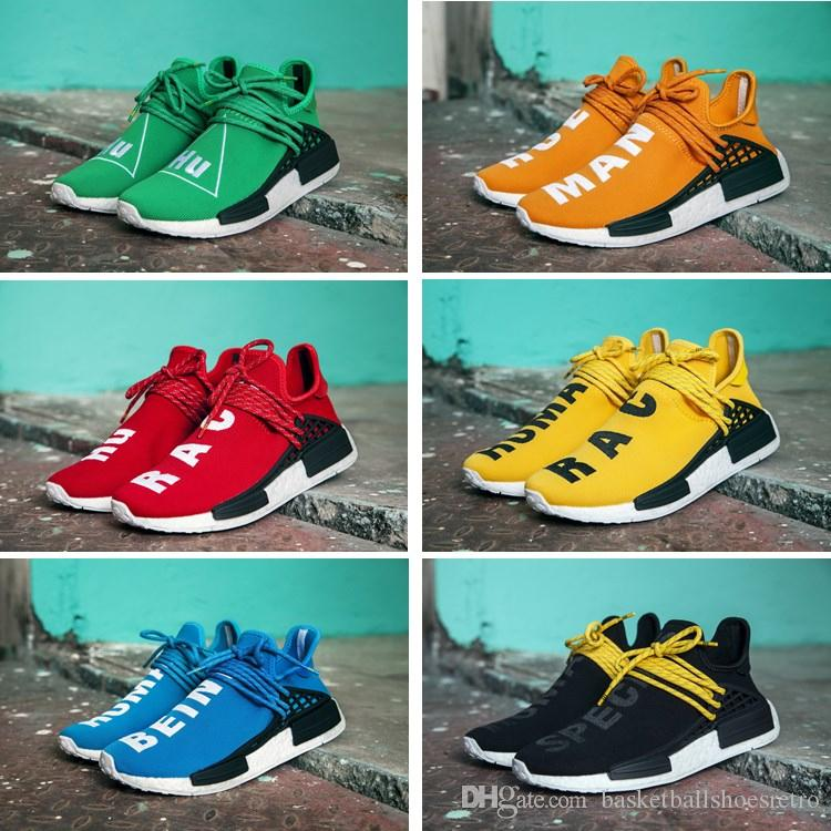 571c131e2 With BOX Human Race NMD Factory Real Boost Black Yellow Red Green ...