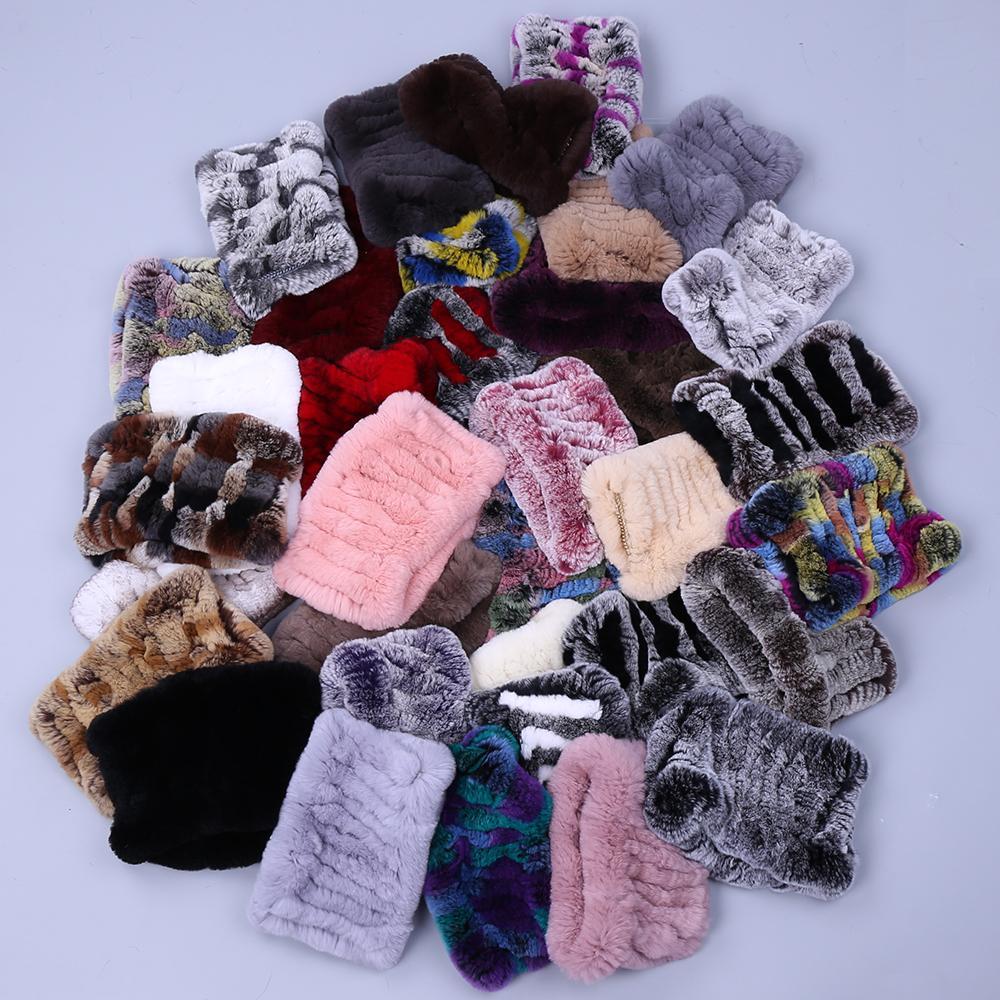 Acheter Femmes Real Hand Stretch Stretch Knit Véritable Rex Lapin Bandeaux  Filles Naturel Bague De Fourrure Cowl Snood Echarpes D hiver C18111701 De   16.39 ... 3981f065d9c