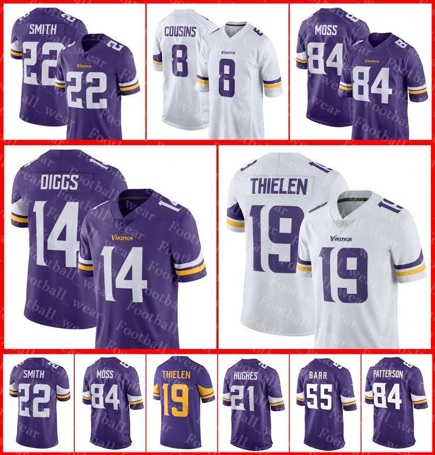 ffea106f2 Minnesota Vikings Jersey 8 Kirk Cousins 19 Adam Thielen Harrison ...