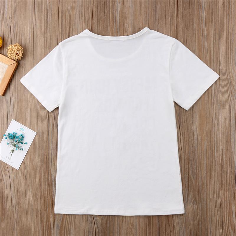 Família Roupas Combinando Baby and Mamas Carta Tops T-shirt Romper Recém-nascidos Tops T Shirts Manga Curta Playsuit