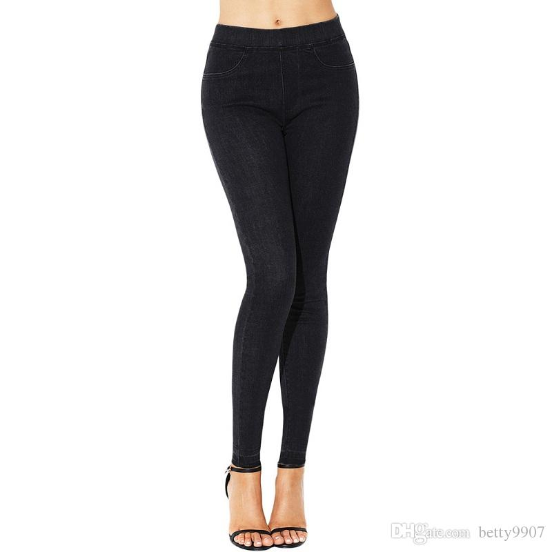 df34411b4b8 Slim Jeans Women Clothing 2018 Designer Stretch Skinny Tights Pencil Pants  Classic Elastic Waist Simple Fashion Trousers Slim Jeans Women Clothing  Pencil ...