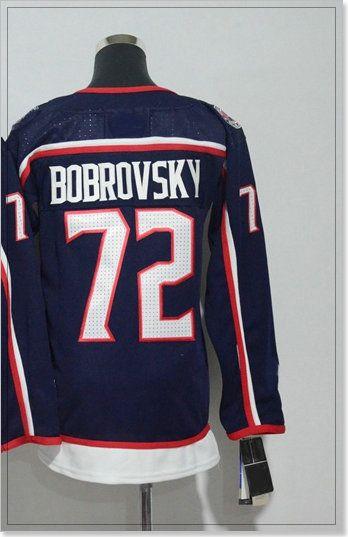 New Columbus Blue Womens #71 Nick Foligno 72 Sergei Bobrovsky Ice Hockey Shirts Pro Sports Team Jerseys Cheap Stitched Embroidery Uniforms