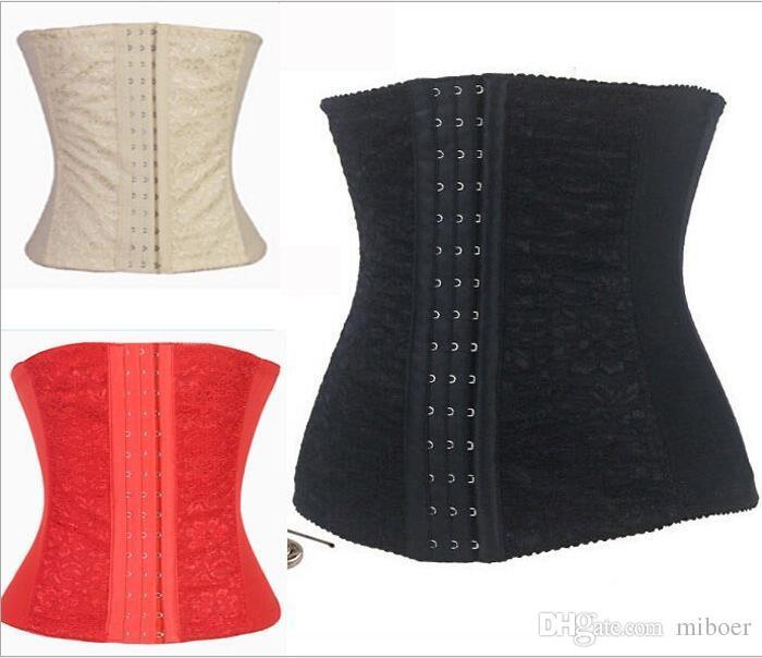 Moda Feminina Sexy Trainer Cintura 9 Osso de Aço Emagrecimento Shapewear Espartilhos Corset Oco Magro Cintura Cincher Corpo Shaper Hot Bustier