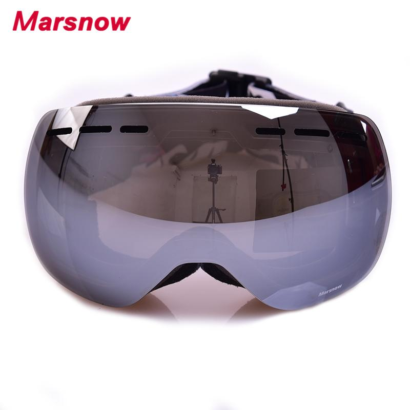 c43360945478 2019 2017 Marsnow Women Men Frameless Skiing Eyewear Children Double Lens Ski  Goggles UV400 Anti Fog Adult Snowboard Glasses M166 From Bdsports