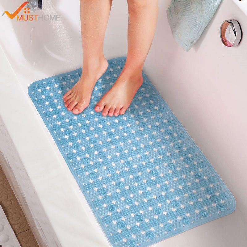 36cmx71cm Pvc Bath Mat Shower Mat Non Slip Bathtub With Sucker And ...