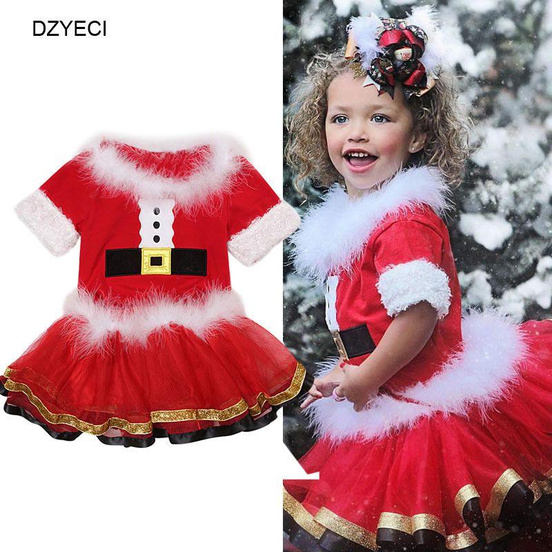 797453dff5744 Acheter Noël Père Noël Costume Pour Bébé Fille Ensemble Vêtements Costume  Enfant Boutique Top + TUTU Jupe Tenue Enfants Survêtement Cadeau  D anniversaire De ...