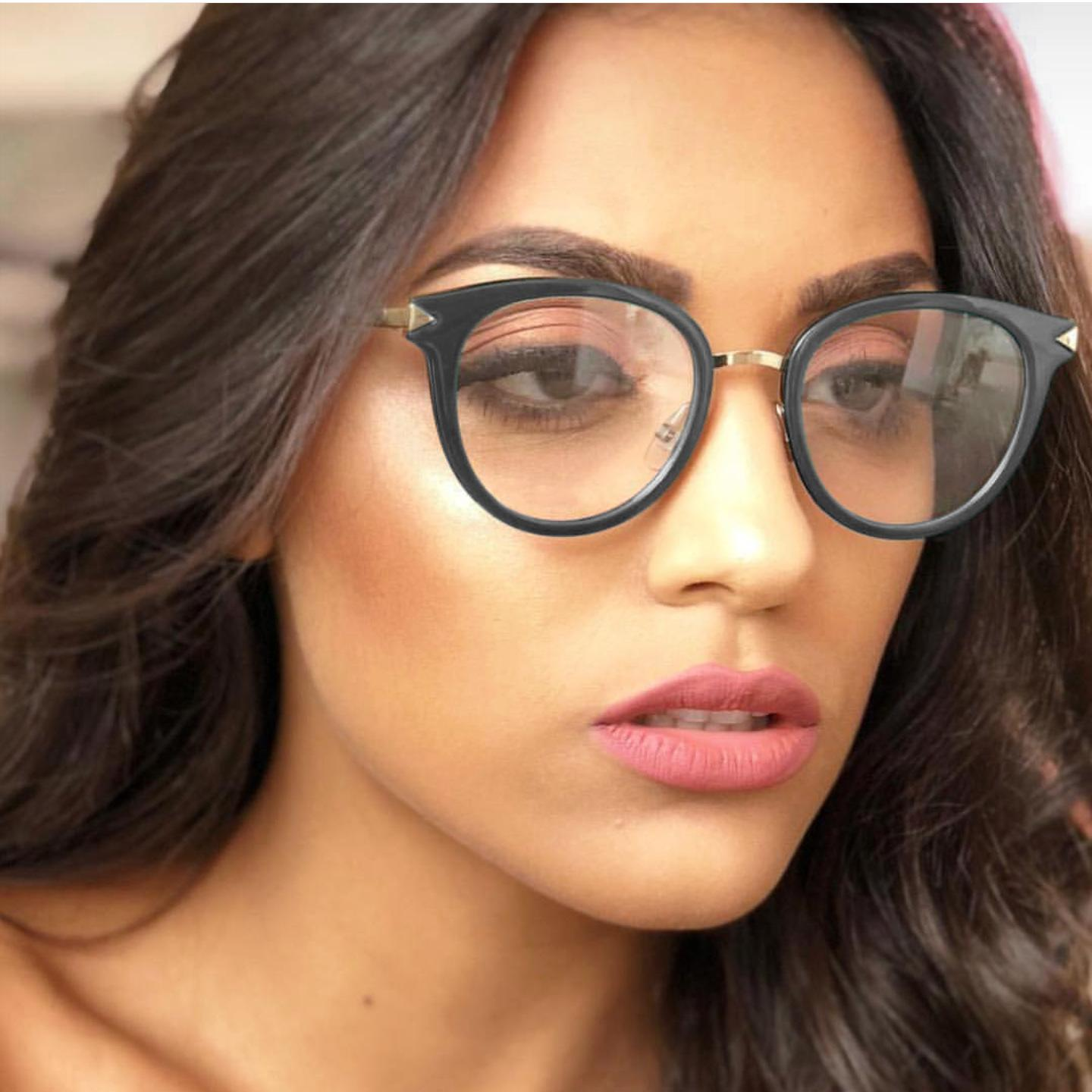 9e80e054da Glasses Frame Female Korean Version Tide Retro Round Face Personality Can  Be Matched With Myopic Eyes Large Face Thin Flat Mirro Designer Spectacle  Frames ...