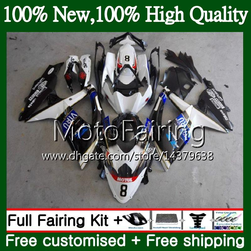 Body For SUZUKI GSXR750 08 09 10 K8 GSXR 600 08 10 26MF22 GSX-R750 GSX-R600 GSXR 750 GSXR600 2008 2009 2010 Fairing Bodywork Blue black