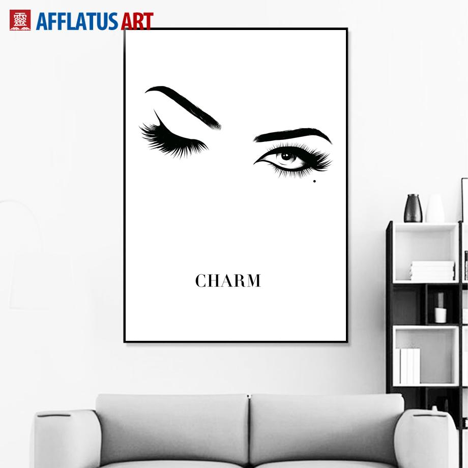 2019 charm eye nordic poster wall art print canvas painting black and white wall pictures for living room pop art home decor from aliceer 29 67 dhgate