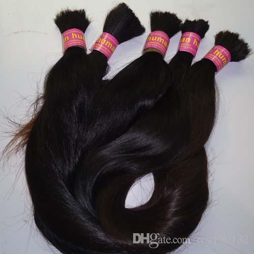 Brazalete brasileño del pelo del trenzado 100g no trama brasileña del pelo recto de la trama para el trenzado 1 paquete extensiones del pelo del color natural de 10 a 26 pulgadas