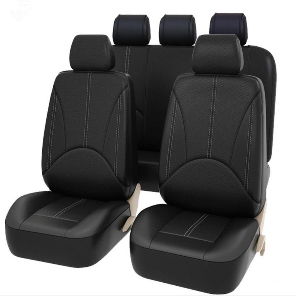 Designer High Quality Car Seat Protectors PU Leather Covers Fashion Universal Fit Sedan SUVJeepTrcuk Front Rear Full Set Dog