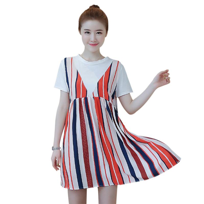 91ceaba6e01 2019 Maternity Dresses For Pregnant Women Pregnancy Clothes Loose Fitting  Sundress Korea Ladies Maternity Summer Wear Office Dresses From Rainbowny