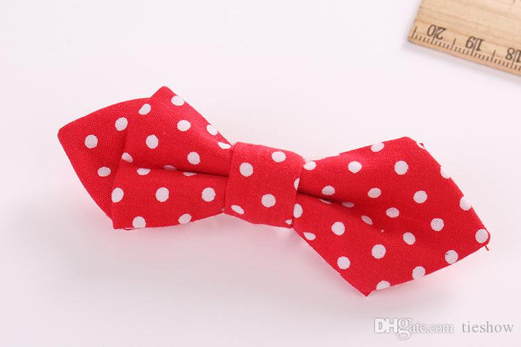 Children's Cotton Printing Bow Tie Fashion Butterfly Tie For Boy Girls Performance Formal Party Birthday Clothes Accessories