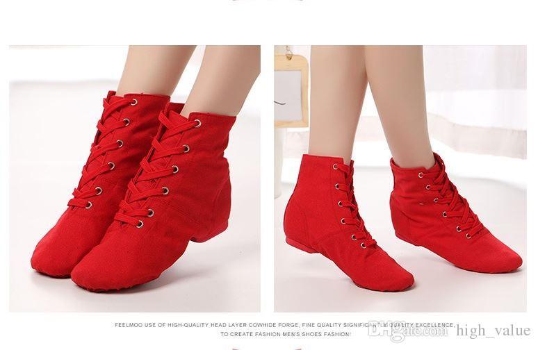 259e0415 Compre Zapatos De Mujer Botines Zapatos De Baile Latino Zapatos De Lona  Baile De Ballet Textura Suave Zapatos Livianos Gimnasia De Baile A $15.08  Del ...
