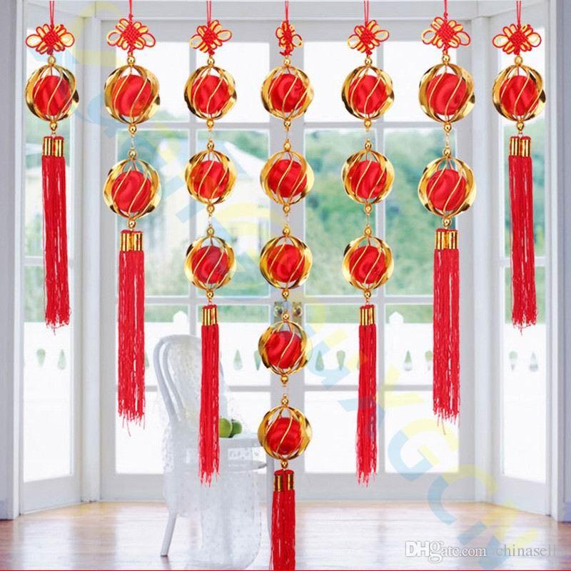 ручной работы Китайский Новый год праздничные украшения фонарь гортензия Весна кулон party hotel Главная свадебные украшения партии пользу