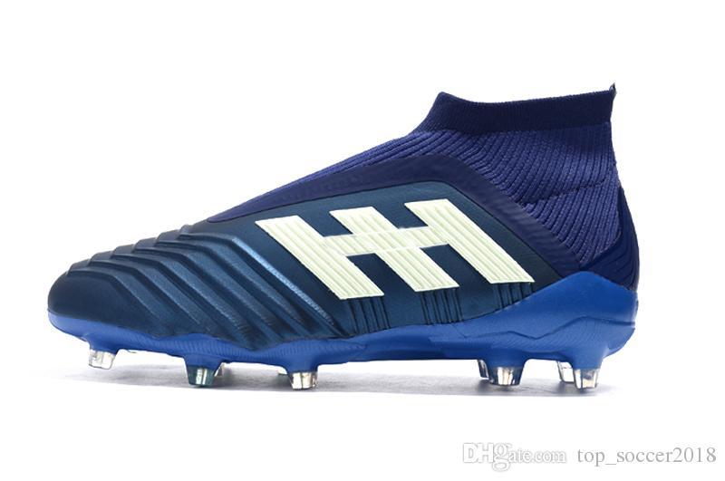 Pogba Et Ic Tf Originales 18En Fg Bleues Chaussures Blanches