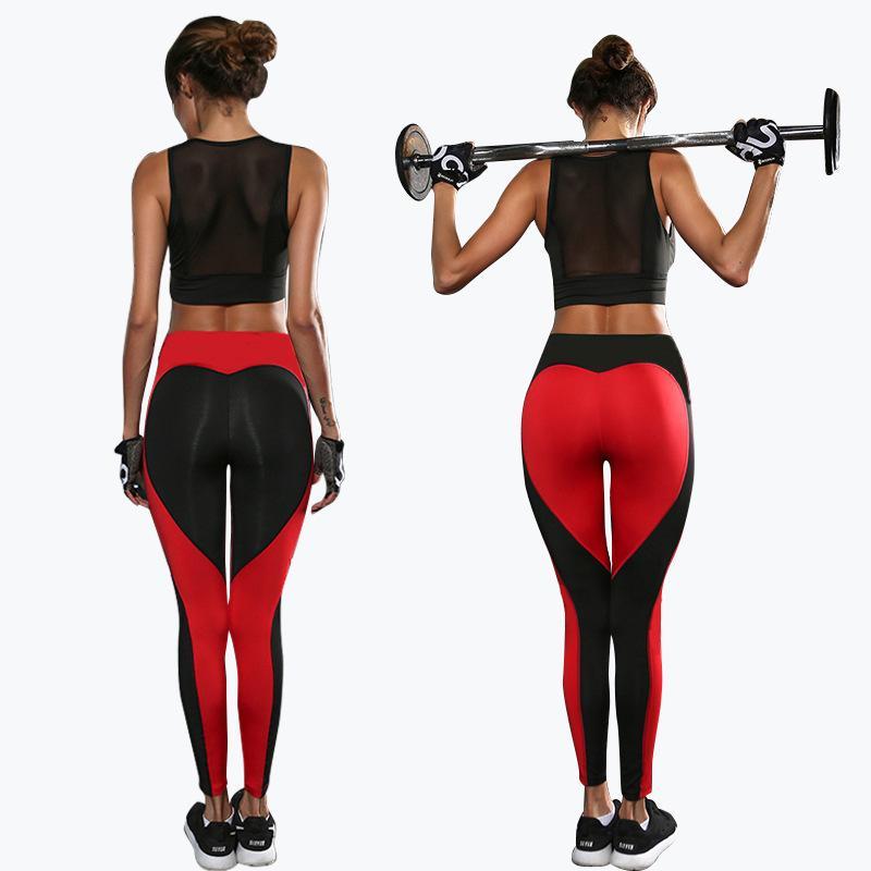 Pantaloni sportivi elastici attillati di yoga