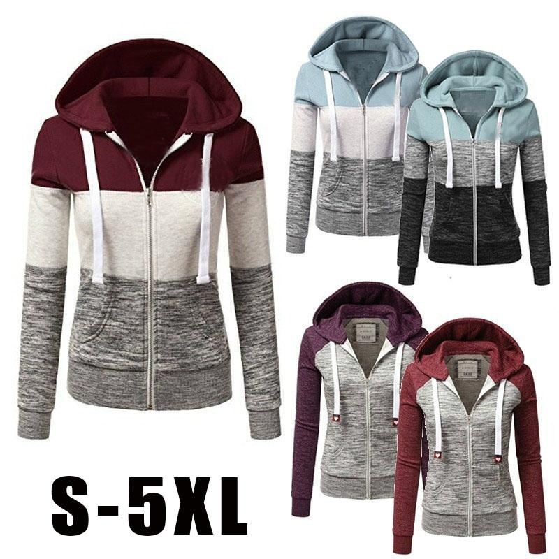 128c0e21ad5 2017 New Women Fashion Plus Size Thin Zip Up Hoodie Jacket Drawstring  Letter Printed Long Sleeve Sweatshirts Spring Jacket Womens Jacket From  Christinaaa