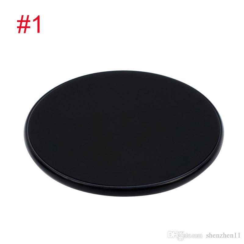 Hölzerne drahtlose Ladegeräte für alle Android-Geräte - Schwarz Weiß iPhone Sumsung Qi Schnelle Walnut Bambus PC Runde Form Handy-Pad OTH862