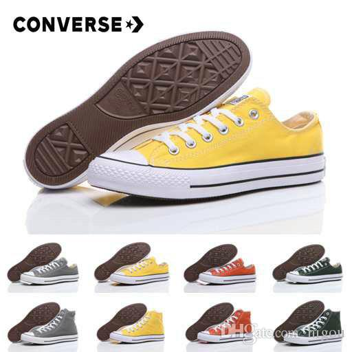 2018 New Converse Chuck TayLor All Star Yellow Green Casual Shoes Classic  Canvas Shoes Women Men Converses Trainers Skate Sneakers zapatos f9cd920ee