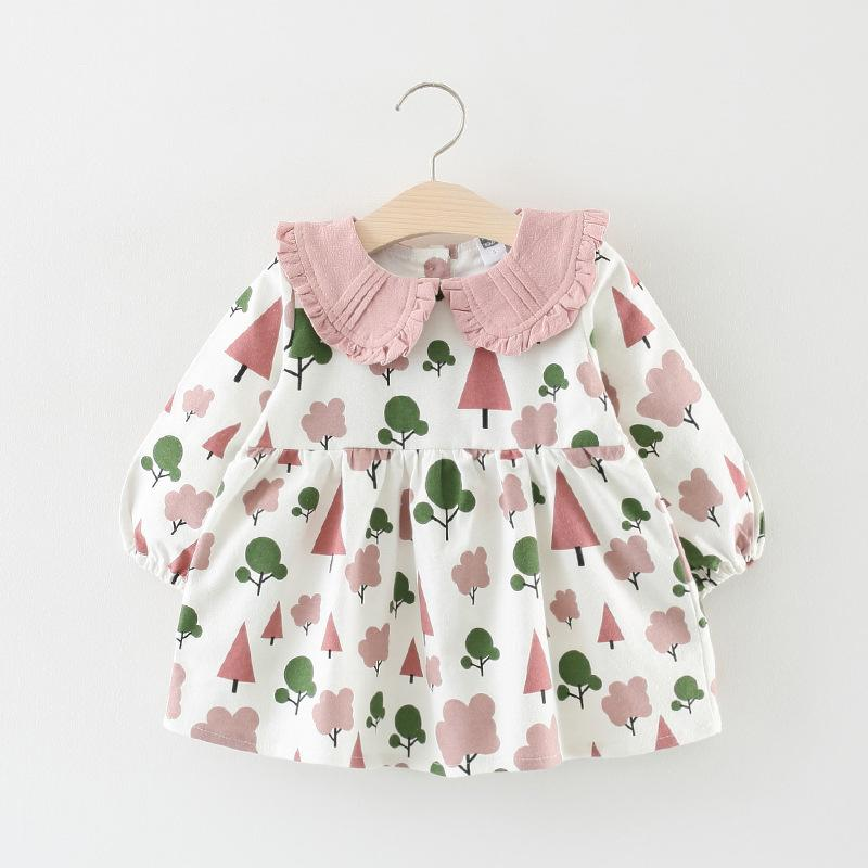 0f35f0d7 2019 Baby Girl Dress Long Sleeve Petal Turn Down Collar For Autumn Cute  Dress 0 3 Year Printed Leisure Princess Dress From Ivytrade1125, $9.82 |  DHgate.Com