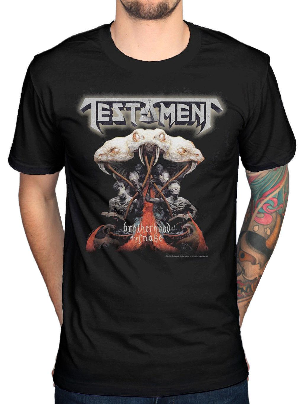 T-shirt ufficiale Testament Brotherhood Of The Snake The Legacy Souls Of Black 2018 New Men tee 2018 fashion T-shirt Summer