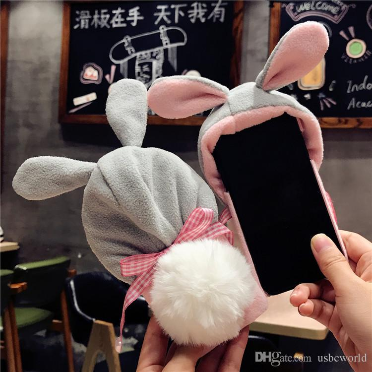 iphone x coque fluffy