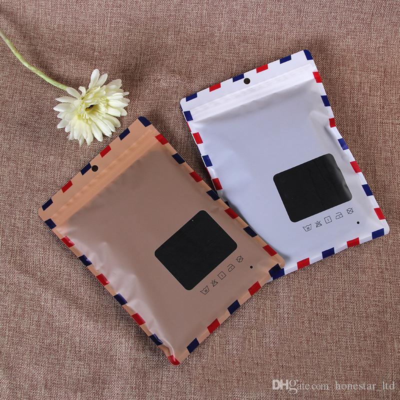 17*24.5cm Zip Lock Aluminum Foil Reclosable Bag Underwear Underpants Storage Mylar Foil Ziplock Packaging Bag