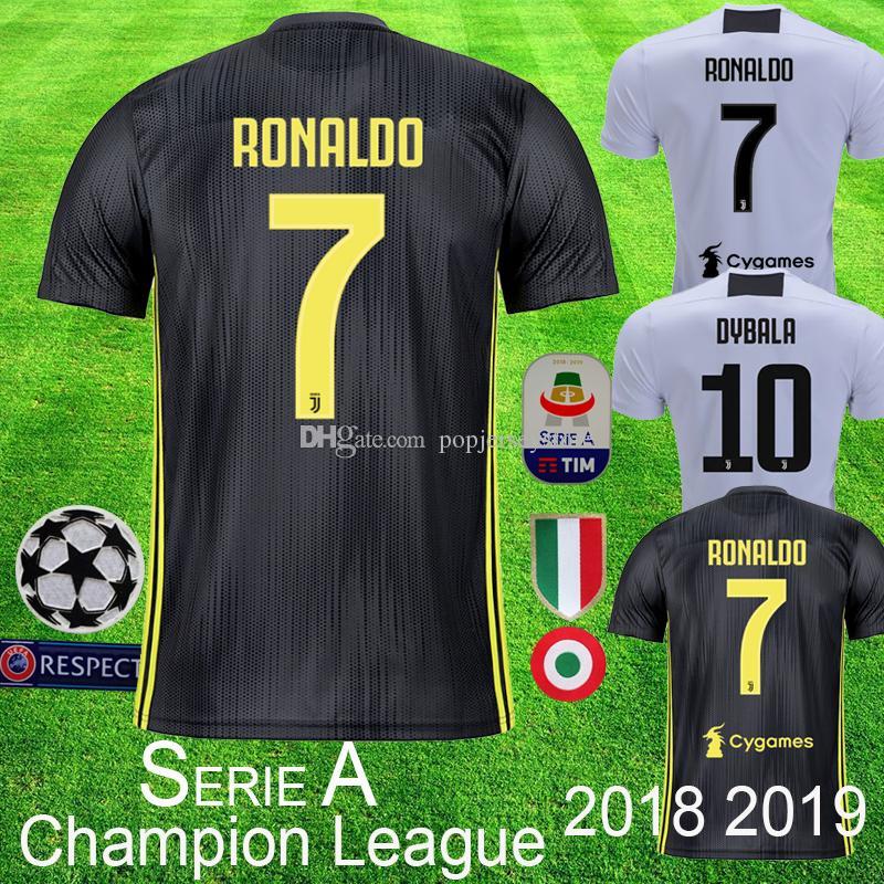 Juventus Top Jerseys De Fútbol RONALDO Juventus Player Version 2019 Camiseta  De Jugador De Fútbol DYBALA BONUCCI D. COSTA Versión Campeona Liga Fanáticos  De ... 540d626fcfa