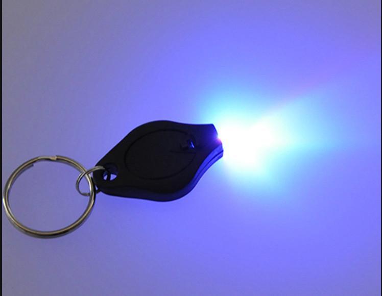 fashion key ring mini Flashlights Cheap UV Money Detector LED Keychain Light multicolor small gift wholesale