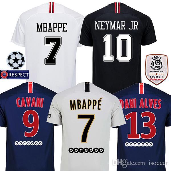 2018 2019 DANI ALVES MBAPPE Psg Maillot Soccer Jerseys 18 19 CAVANI  Football Shirt VERRATTI Camiseta PASTORE DI MARIA Maillot UK 2019 From  Isoccer e17c5764b04