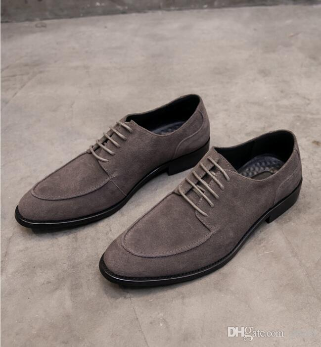 2018 New style Men Dress Shoe Simple Style Quality Mens Oxford Shoes Lace-up Brand Men Formal Shoes Men Leather Wedding Shoes G283