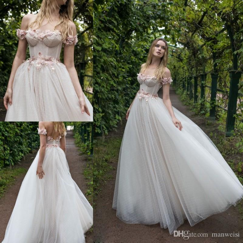 compre lian rokman 2018 vestidos de novia rosa flor de encaje