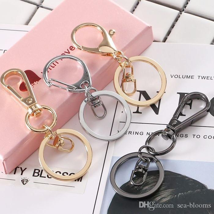 6 Styles Metal Snap Hook Lobster Clasps Lanyard With Keyring Ring Pendant DIY Bags Car Keychain Accessories Support FBA Drop Shipping G781R