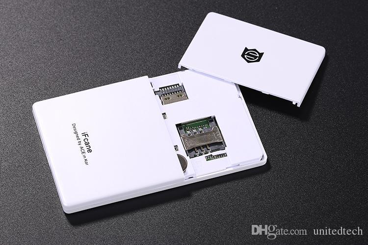 Original iFcane E1 Débloquer Portable Petit Mini carte de crédit GSM Téléphone Mobile avec MP3 Bluetooth FM 5.8mm Carte Ultra-mince mini téléphones