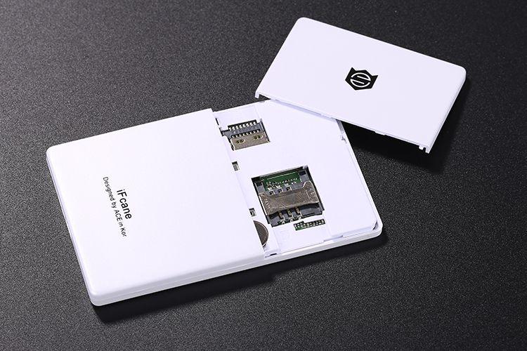 Original iFcane E1 Unlock Portable Small Mini credit card GSM Mobile Phone with MP3 Bluetooth FM 5.8mm Ultrathin card mini cell phones